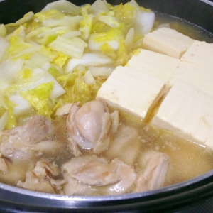 鶏肉と白菜の中華鍋