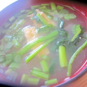 ほうれん草と油揚げと小葱の味噌汁