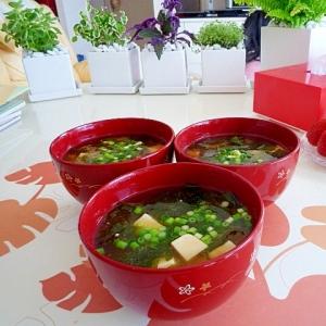 豆腐とワカメのみそ汁♪