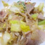 白菜と牛肉と生芋のしらたき味醂醤油砂糖グリル