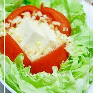 彩り鮮やか★レタス・トマト・お豆腐のサラダ★