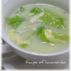 レタスとかき玉の中華スープ