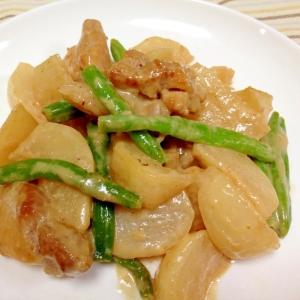 鶏肉とかぶのオイマヨ炒め