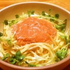 フライパンいらずで簡単☆たらこスパゲッティ