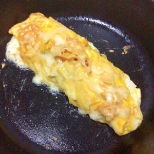 青しそ海苔とチーズの卵焼き