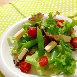 チーズと彩野菜サラダ♪
