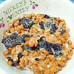 納豆の食べ方-塩麹&味付のり♪