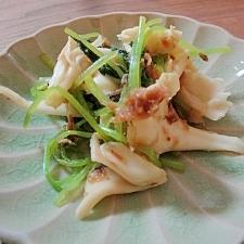簡単 レンジで1分温めるだけ 三つ葉と舞茸の煮物