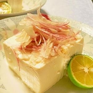 塩麹漬け豆腐をすだちで食す、秋の風流