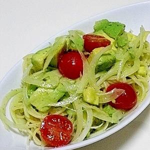 アボカド×パスタのサラダ