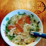 トマトとふわっと卵のスープ