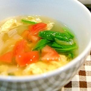 うどんスープの素を使って超簡単!かきたまスープ