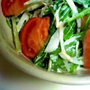 シャキシャキ水菜と大根のシーチキンサラダ