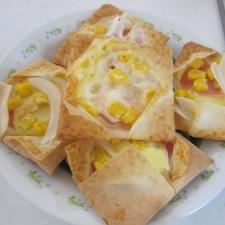 春巻の皮でかわいいミニピザ