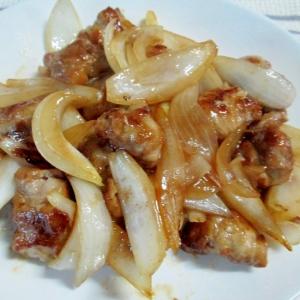 豚細切れで肉団子♪肉団子と玉ねぎの炒め物