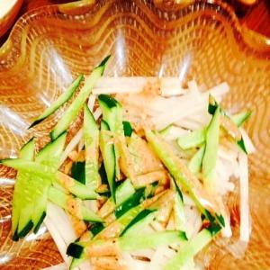 大根とキュウリのシャキシャキ胡麻サラダ