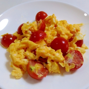 朝食に☆ミニトマトのスクランブルエッグ