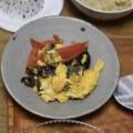 卵とキクラゲとトマトのオイスターソース炒め