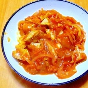 マグロのトマトソース煮