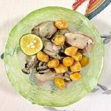 牡蠣の和え物に、銀杏