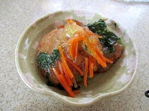 豆腐ハンバーグのあんかけソースがけ