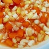 離乳食☆大豆とにんじんとコーンのケチャップ煮