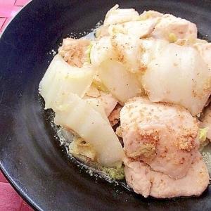 鷄むね肉と白菜のごま酸っぱ炒め