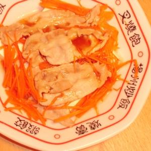 豚バラとニンジンのスタミナマヨ豆腐冷やっこ
