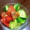 きゅうりとトマトの簡単中華サラダ