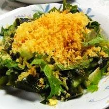 天カス豆腐サラダ