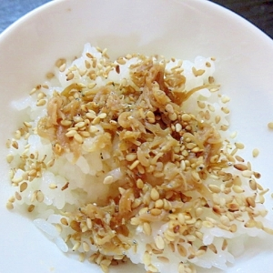 甘辛しらす煮の混ぜご飯