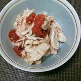 鶏のささみと梅肉のごま油和え