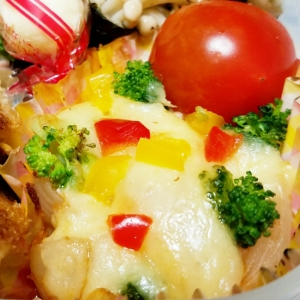 新玉うまうまお弁当★新玉のケチャップチーズ焼き