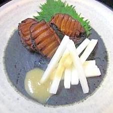 おつまみ100 55)小粋な「アワビ醤油焼き」