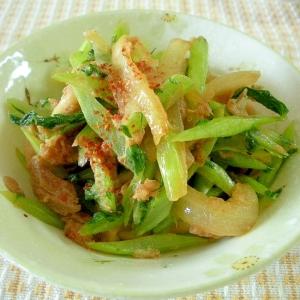 ☆焼き豚と大根菜のピリ辛炒め☆