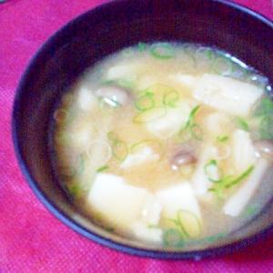 油揚げ・豆腐・しめじのお味噌汁