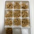 離乳食中期の納豆の下ごしらえ