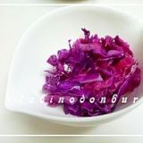 洋食の付け合わせに♬ 紫キャベツの酢漬け