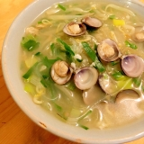 カンタン鉄分♡しじみとニラの春雨スープ♪塩麹風味