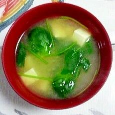 芽キャベツのお味噌汁~♪