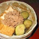 なすと厚揚げと豚肉の煮物(炒り煮)