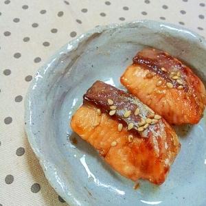 お弁当に✿お刺身のサーモンで❤鮭のオイマヨ焼き