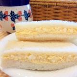 6枚切り食パンで作るいつもの卵サンド♪