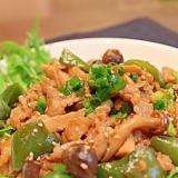 速攻で作る簡単❀豚コマ肉ときのこのマヨ甜麺醤炒め❀