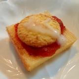 苺ジャムとバタークッキーのカカオ香るミニバ一ム