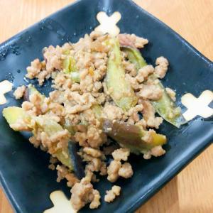 茄子とひき肉の焼き肉のタレ炒め
