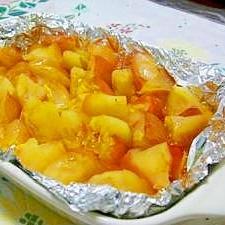 オーブントースターで焼きリンゴ