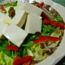 野菜たっぷり!塩豆腐のサラダ!