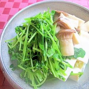 白だしで簡単!豆腐と豆苗のさっと煮