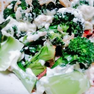 ブロッコリーハムのめんたいサラダ